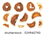 Dried Oranges Slices Isolated...