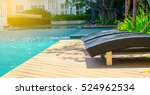 outdoor swimming pool with blue ... | Shutterstock . vector #524962534