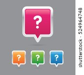 question mark pin marker icons | Shutterstock .eps vector #524964748