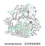 illustration of vector modern... | Shutterstock .eps vector #524968384