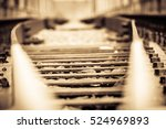grunge old railroad tracks... | Shutterstock . vector #524969893