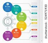 vector infographic of... | Shutterstock .eps vector #524971930
