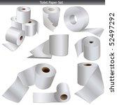 wc toilet paper | Shutterstock . vector #52497292