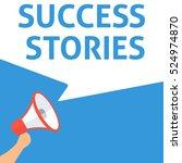 success stories announcement.... | Shutterstock .eps vector #524974870