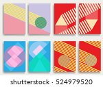 trendy cards design . minimal... | Shutterstock .eps vector #524979520