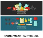 healthy lifestyle web banners... | Shutterstock .eps vector #524981806