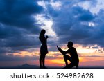 Small photo of man propose to his girlfriend