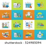 education  science  planning ... | Shutterstock .eps vector #524985094