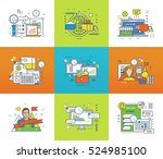 statistics and analysis ... | Shutterstock .eps vector #524985100