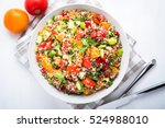 fresh healthy salad with quinoa ... | Shutterstock . vector #524988010