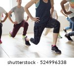 diversity people exercise class ... | Shutterstock . vector #524996338