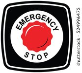 emergency stop push button... | Shutterstock .eps vector #524996473