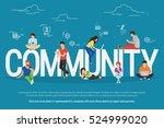 community concept illustration... | Shutterstock . vector #524999020