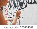 young beautiful blonde woman...   Shutterstock . vector #525003349