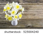 White Daffodils At China Vase...