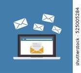 sending or receiving email....   Shutterstock .eps vector #525005284
