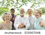 group of senior retirement... | Shutterstock . vector #525007048
