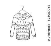 christmas vector sweater | Shutterstock .eps vector #525007768