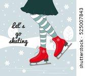 vector background with feet in ... | Shutterstock .eps vector #525007843