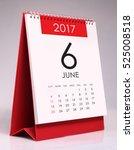 simple desk calendar for june... | Shutterstock . vector #525008518