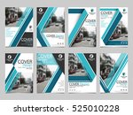 blue collection set cover... | Shutterstock .eps vector #525010228
