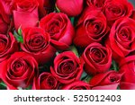Fresh red roses in a bouquet as ...