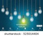 lamp business success  modern... | Shutterstock .eps vector #525014404