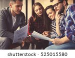 group of young business people... | Shutterstock . vector #525015580