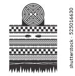 native american pattern... | Shutterstock . vector #525016630