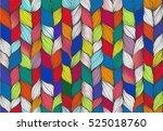 knitting braids hand drawn... | Shutterstock .eps vector #525018760