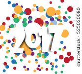happy new 2017 year. greetings... | Shutterstock .eps vector #525020080