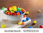 colorful chocolate candies in...   Shutterstock . vector #525022213