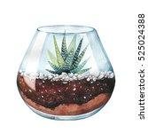 watercolor illustration. zebra... | Shutterstock . vector #525024388