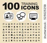simple set of training related... | Shutterstock .eps vector #525025258