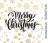 christmas decoration background.... | Shutterstock .eps vector #525027124