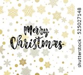 christmas decoration background.... | Shutterstock .eps vector #525027148