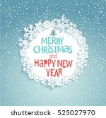 christmas greeting card. merry... | Shutterstock .eps vector #525027970
