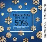 christmas sale. christmas... | Shutterstock .eps vector #525028270