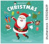 vintage christmas poster design ...   Shutterstock .eps vector #525028639