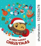 vintage christmas poster design ... | Shutterstock .eps vector #525028678