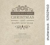 premium vintage retro flat... | Shutterstock .eps vector #525029410