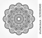 mandala. ornamental round...   Shutterstock .eps vector #525030400
