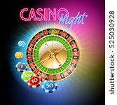vector casino banner with... | Shutterstock .eps vector #525030928