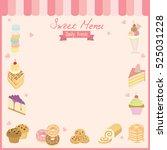 sweet menu board for dessert...   Shutterstock .eps vector #525031228