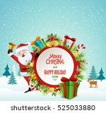 christmas greeting card vector | Shutterstock .eps vector #525033880