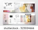 tri fold brochures  square... | Shutterstock .eps vector #525034666