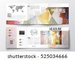 tri fold brochures  square...   Shutterstock .eps vector #525034666