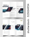 tri fold brochure business... | Shutterstock .eps vector #525034954