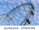 Big Ferris Wheel With Cabins O...