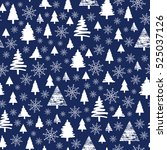 holiday pattern  christmas... | Shutterstock .eps vector #525037126
